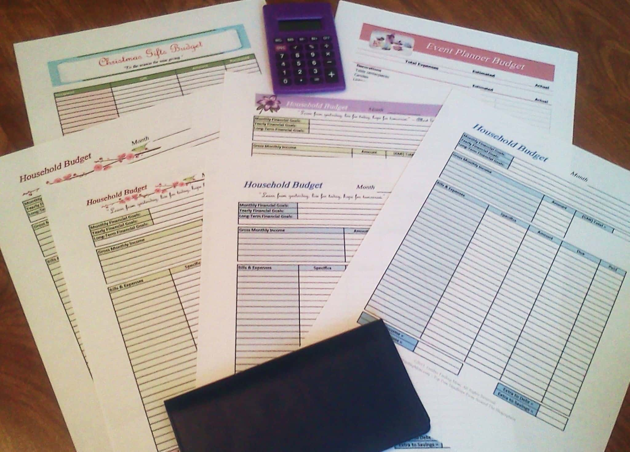Printable Budget Worksheets