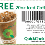 Free 20 oz. Iced Coffee at QuickChek