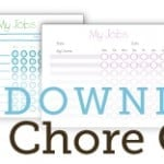 Free Customizable 7-Day Chore Charts for Kids