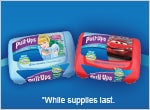 Free Samples of Pull-Ups Flushable Moist Wipes