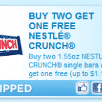 Buy 2 Get 1 Free Nestlé Crunch Candy Bar Coupon