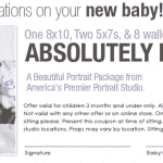 Free New Baby Portrait Special Offer by Olan Mills