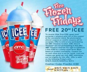 Free 20 oz. ICEE at AMC Theaters