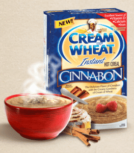 Free Sample of Cream of Wheat Cinnabon Instant Cereal
