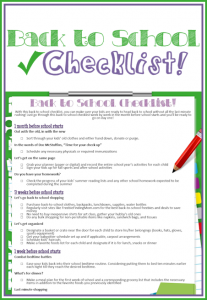 Free Printable Back to School Checklist - Get the kids ready to head back to school without all the last minute rushing thanks to this back to school checklist.