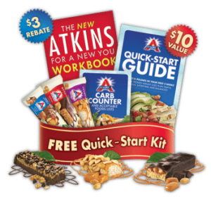 Atkins Starter Kit which includes 3 free Atkins bars