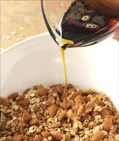 Easy Five Ingredient Homemade Coconut Oil Granola