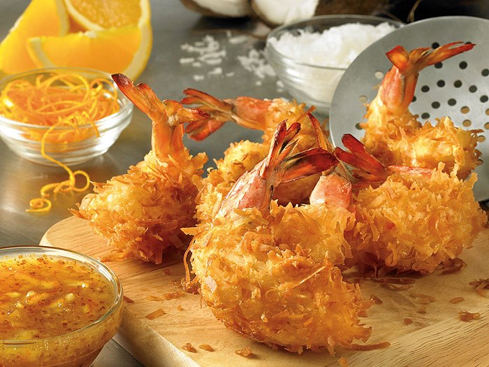 coconut shrimp free food offer
