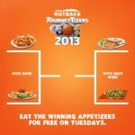 outback steakhouse free food offer