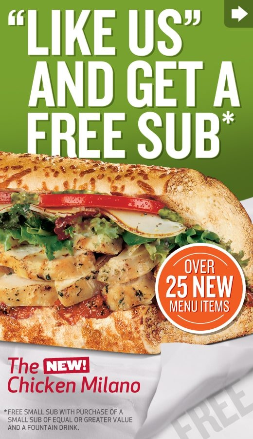 quiznos free food