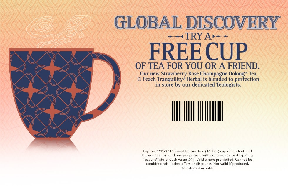 teavana tea freebie