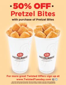 Pretzelmaker Pretzel Bites Buy 1 Get 1 50% Off