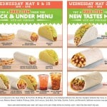 Del Taco FREE Food Item From Buck & Under Menu (May 8 & 15)