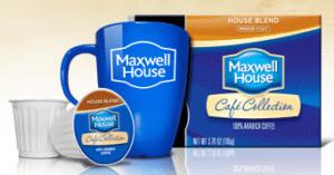 Maxwell House Single Serve Cups freebie