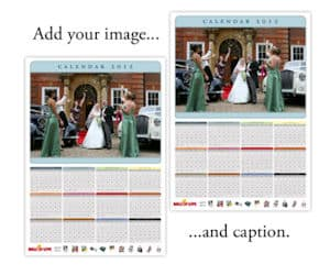 Personalized Photo Calendar to promote freebie
