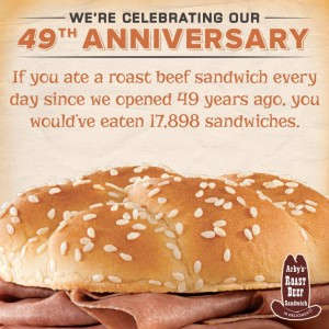 photo regarding Arby's Printable Coupons identify Arbys 64 cent roast beef coupon : Naughty discount codes for him