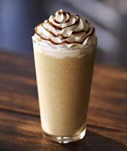 Hazelnut Frappuccino drink to promote Starbucks Treat Receipt Program