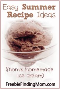 Three easy summer recipe ideas