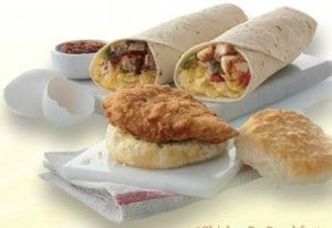 Chick-Fil-A breakfast entree items to promote free breakfast offer