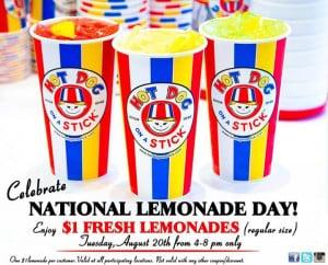 Hot Dog on a Stick National Lemonade Day banner