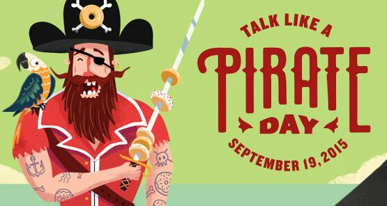 Krispy Kreme Talk Like a Pirate Day Free Doughnut promotion banner