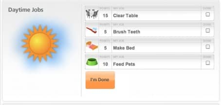 online chore chart to promote today's freebie of the day