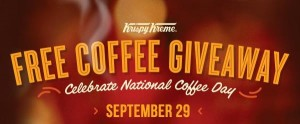 Krispy Kreme free coffee giveaway banner for National Coffee Day
