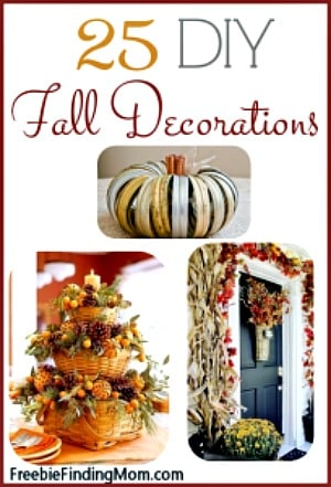25 DIY Fall Decorations - Grab your hot glue gun because these DIY fall decorations are sure to inspire you.