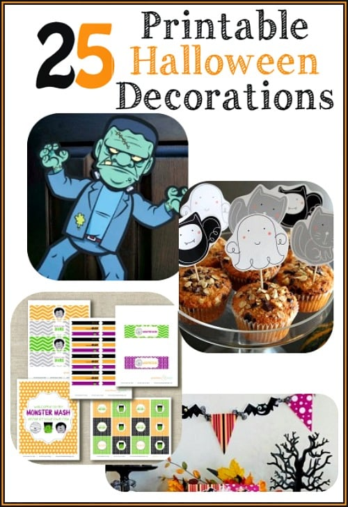 There's no need to buy expensive Halloween decorations when there are fun printable Halloween decorations like these. Happy Halloween!