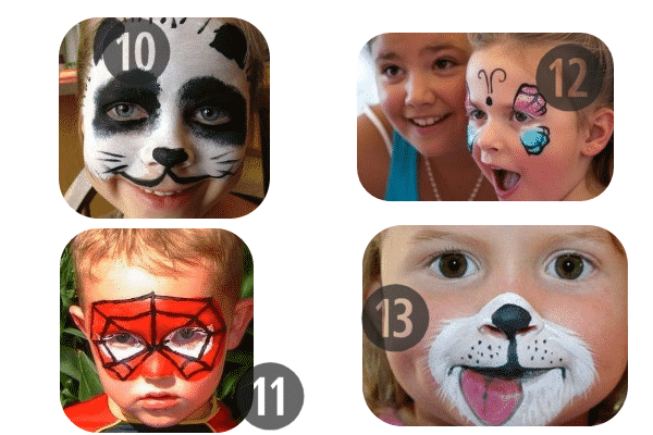 10-13 of the 25 Easy (and Not So Easy) DIY Halloween Face Painting Ideas for Kids