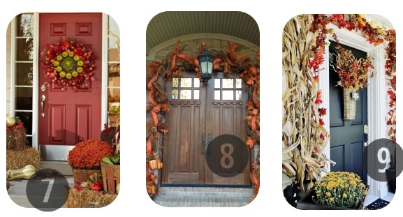 7-9 of the 25 DIY Fall Decorations