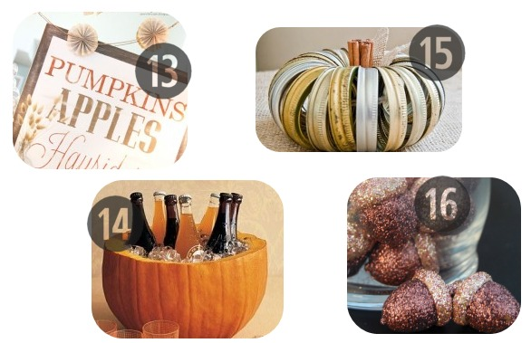 13-16 of the 25 DIY Fall Decorations