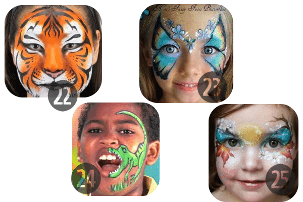 22-25 of the 25 Easy (and Not So Easy) DIY Halloween Face Painting Ideas for Kids