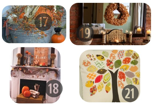 17-21 of the 25 DIY Fall Decorations