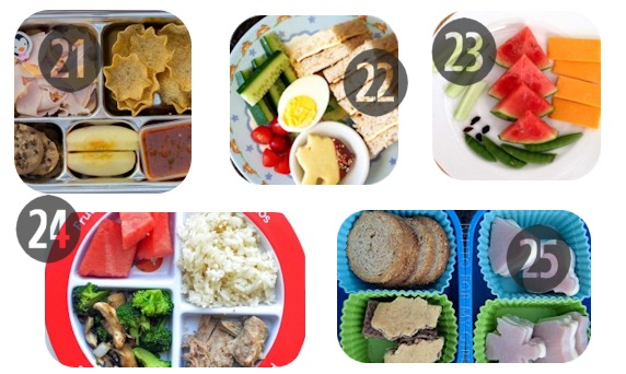 21-25 toddler lunch ideas