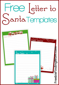 Free printable letter to Santa templates - notes to or from Santa!
