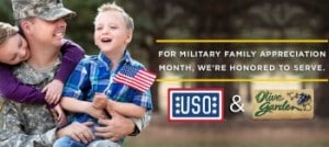 Olive Garden Veterans Day freebies