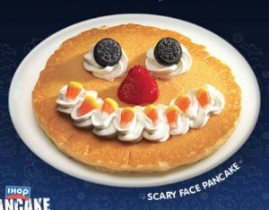 IHOP Scary Pancake to promote this week's best freebies, coupons, bargains and more