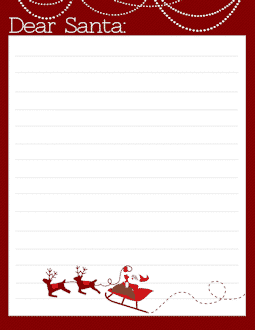 Freebie: FREE Letter to Santa Templates – Notes To or From Santa