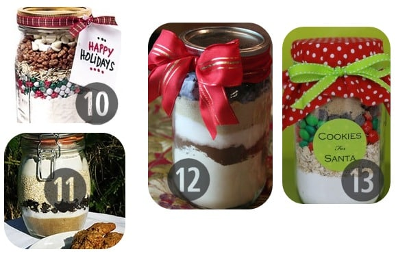10-13 Mason jar recipes holiday gifts in a jar
