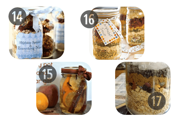14-17 Mason jar recipes holiday gifts in a jar