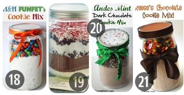 18-21 Mason jar recipes holiday gifts in a jar