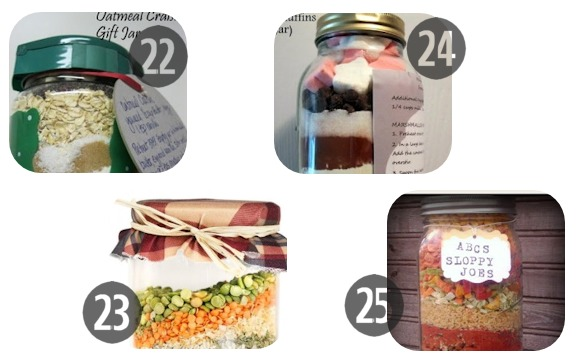 22-25 Mason jar recipes holiday gifts in a jar