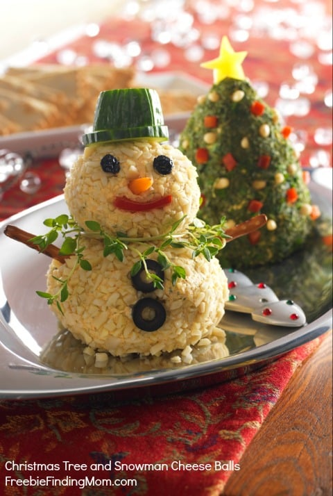 Marvelous Holiday Food Ideas Christmas Party Part - 14: Christmas Tree And Snowman Cheese Balls - No Boring Cheese Ball Here. Bring  These Little