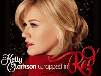Kelly Clarkson album cover to promote free Christmas songs from People.com