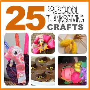 25 Preschool Thanksgiving Crafts - Get the kids in the Thanksgiving spirit by making cardboard tube pilgrims and Indians, a clay pot scarecrow, creative food crafts, and more! Plus discover how to make Thanksgiving turkeys with a toilet paper roll, Popsicle stick, baby food jars and other simple household items.