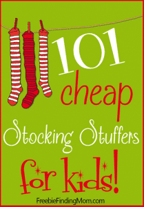 101 Cheap Stocking Stuffers for Kids - Santa can stuff the kids' stockings on the cheap with these fun yet frugal stock stuffers. You'll find ideas for kids of all ages from 0 to teens and most items are under $10 which makes it easy on Santa's wallet too.