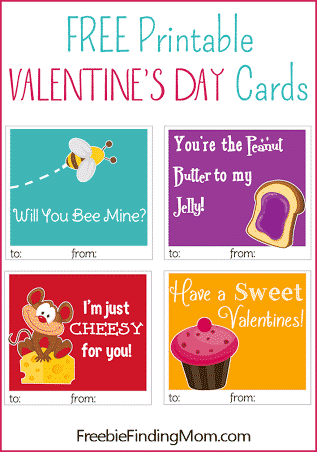 Free printable Valentine's Day cards - cuter than anything in stores!