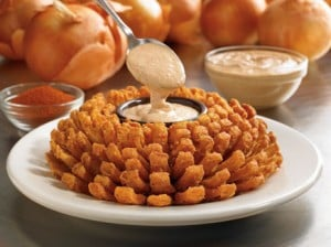 Outback Steakhouse bloomin' onion to promote free bloomin' onion on March 3