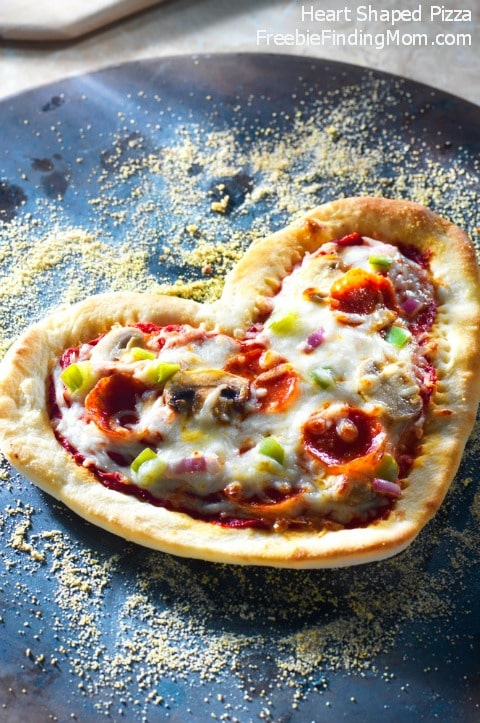 Heart Shaped Pizza Recipe - Fun kids meals option, let them pile on their favorite toppings.
